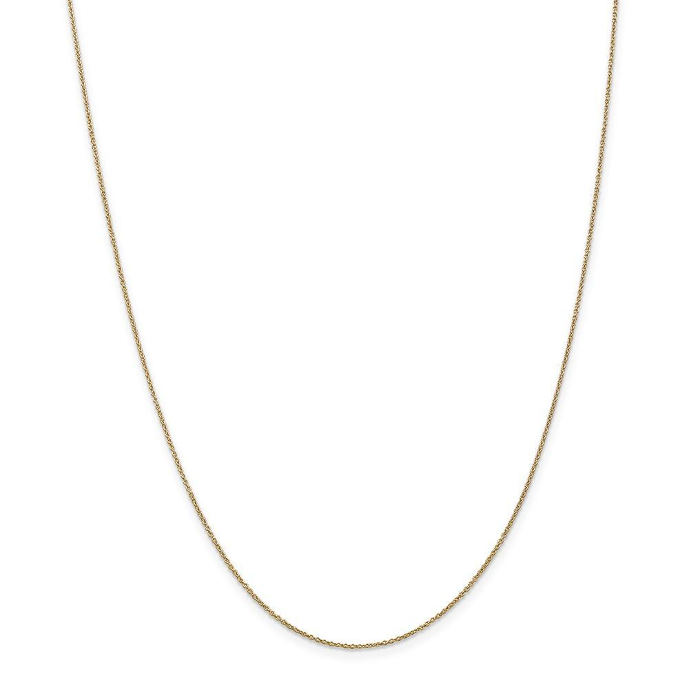 Chains 14k Yellow Gold .80mm Solid Polish Cable Chain
