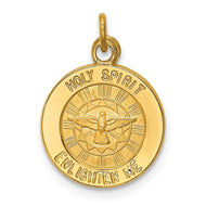 Pendants & Charms 14k Yellow Gold Holy Spirit Medal Pendant
