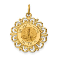 Pendants & Charms 14k Yellow Gold Our Lady of Fatima Medal Pendant
