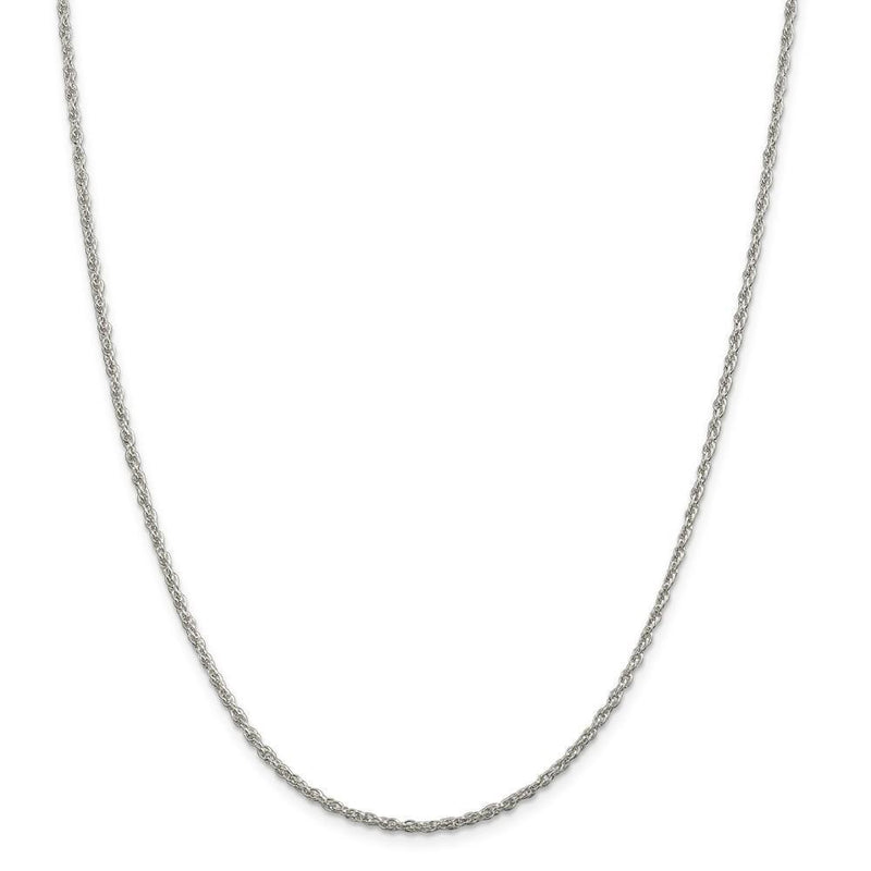 Chains Silver Polished 2.00-mm Loose Rope Chain