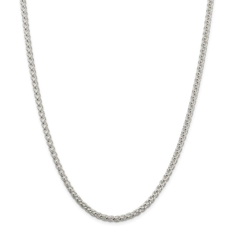 Chains Silver Polished 4.00-mm Solid Round Spiga Chain