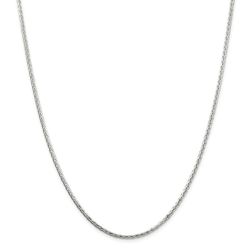 Chains Silver Polished D.C 2.50-mm Solid Spiga Chain