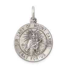 Load image into Gallery viewer, Pendants & Charms Sterling Silver Antiqued Our Lady of Mount Carmel