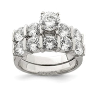 Ring Sterling Silver Cubic Zirconia Band Rings Set