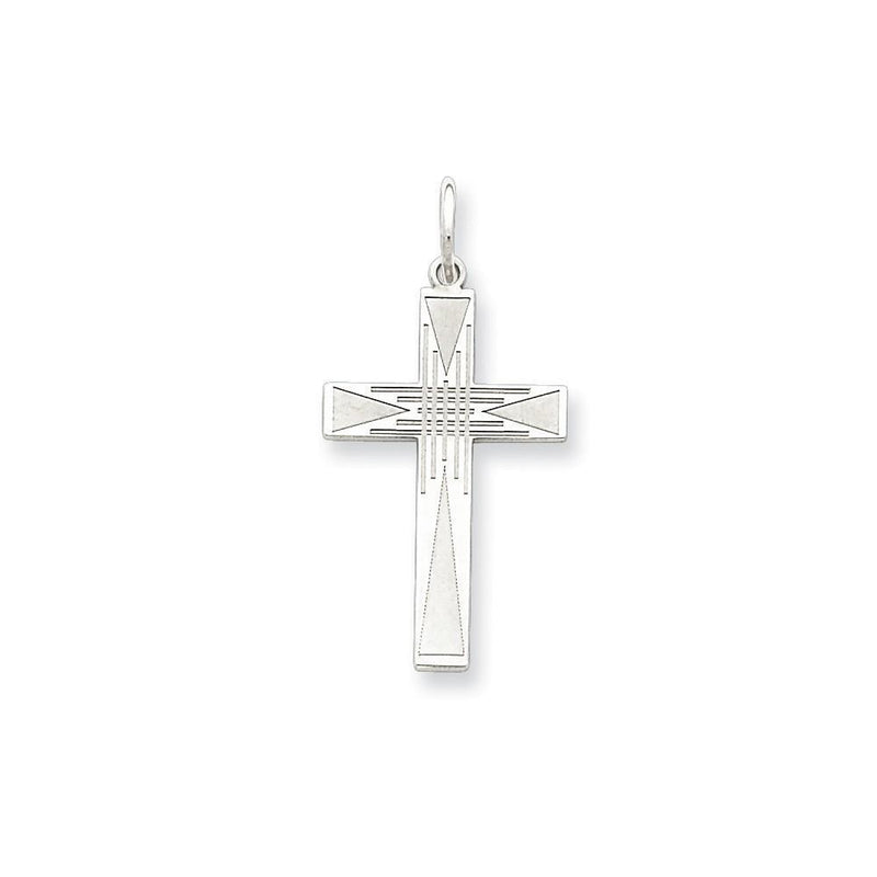 Pendants & Charms Sterling Silver Laser Designed Cross Pendant