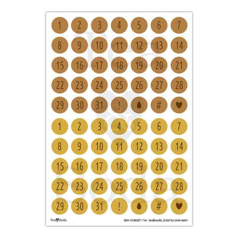 Planner stickers - Date