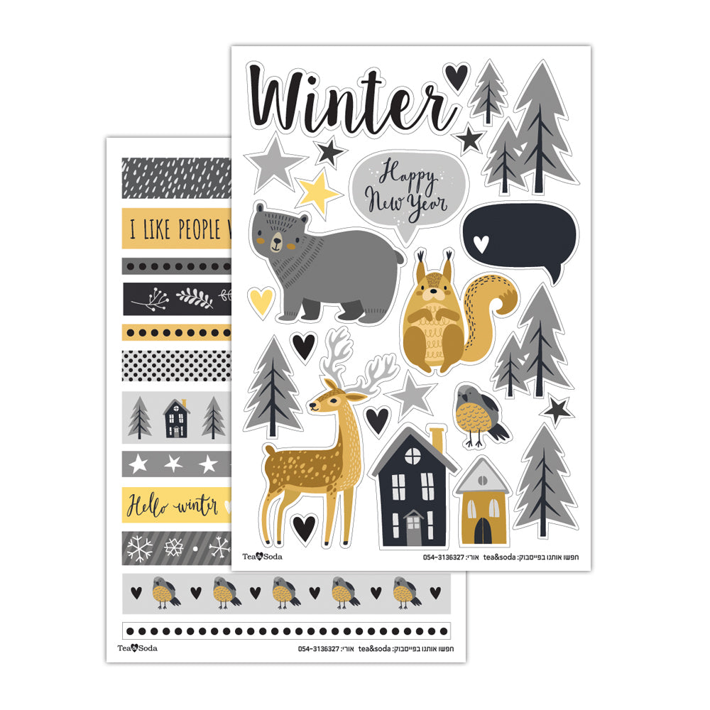 Planner stickers - winter