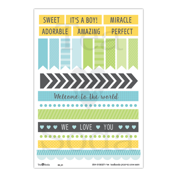 Planner stickers - Baby boy album