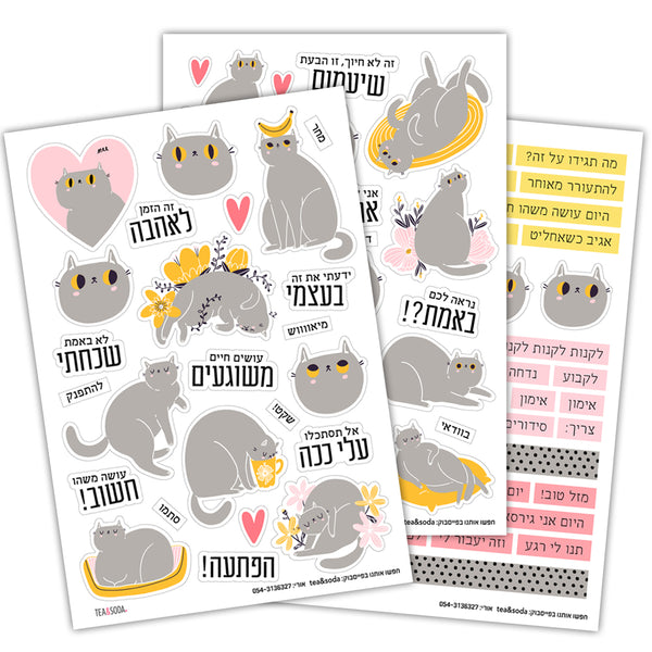 Planner stickers set - Me and my cat