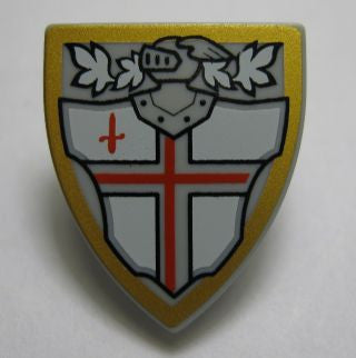 Shield Triangular with Red St. George's Cross