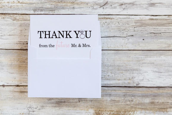 Best Selling Arrow Calligraphy Heart Thank You Card