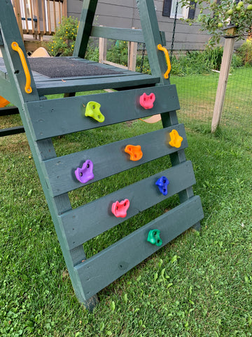 Children's Climbing Wall Holds for Swing Set