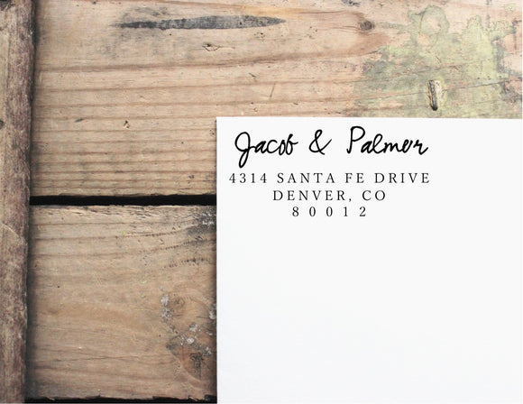 Custom Return Address Rubber Stamp 1102