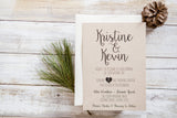 Kraft and Black Wedding Invitation