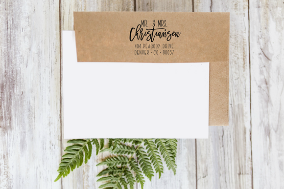 Custom Return Address Rubber Stamp 1106