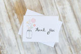 Mason Jar Thank You Notes Calligraphy