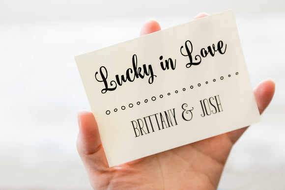 Lucky in Love Wedding Thank You