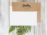Custom Return Address Rubber Stamp 1101