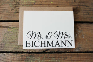 Mr. and Mrs. Wedding Thank You Cards
