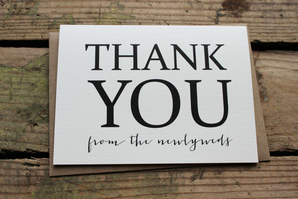 Thank You from the Newlyweds cards