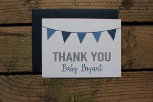 Navy Blue Baby Shower Thank You