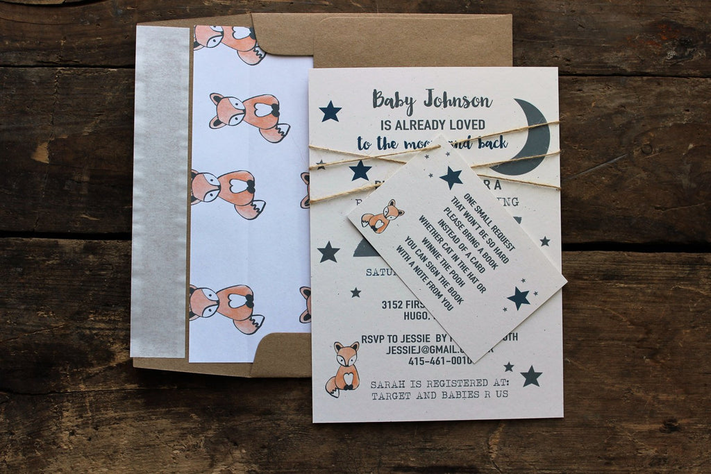 Baby shower invitation to the moon and back rustic invite baby baby shower invitation to the moon and back rustic invite baby boy shower filmwisefo