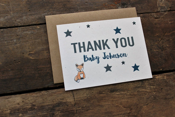 Baby Shower Fox Thank You