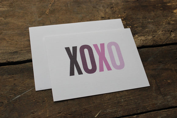 XOXO Purple Ombre Thank You Card Set of 10