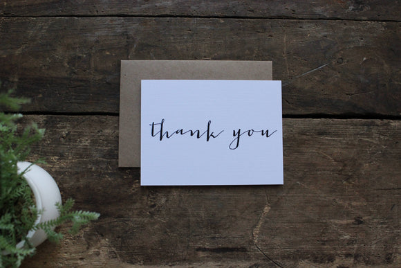 Simple Thank You Cards Set of 10