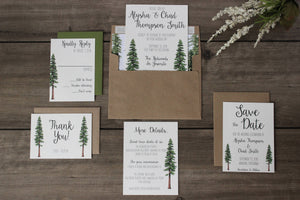 Redwood Tree California National Park Wedding Invitation