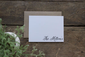 Modern and Rustic Wedding Thank You