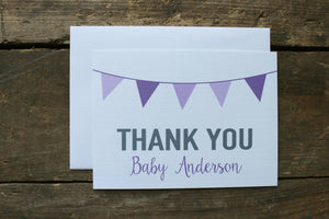 Baby Shower Thank You Purple