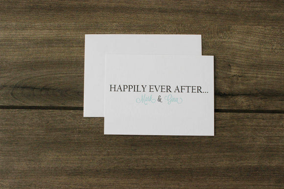 Personalized Happily Ever After Cards
