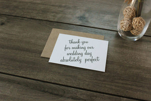 Vendor Thank You Card