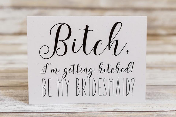 Funny Bridesmaid Proposal Card