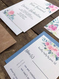 Wood Band Floral Wedding Invitation