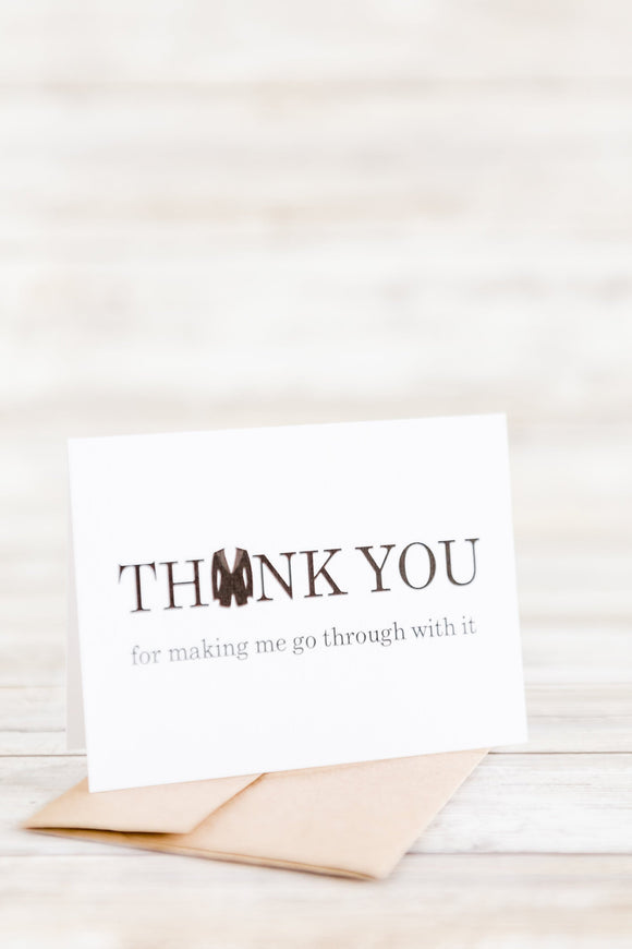 Snarky Wedding Party Thank You
