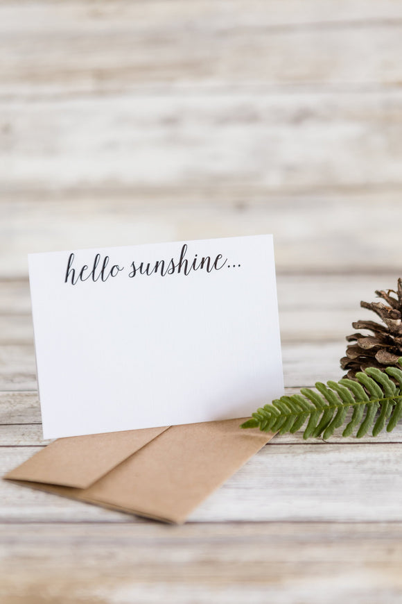 Hello Sunshine Thank You Cards