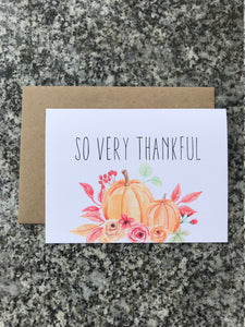 So Very Thankful Note Cards