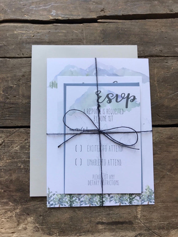 Mountain Wooded Wedding Invitation