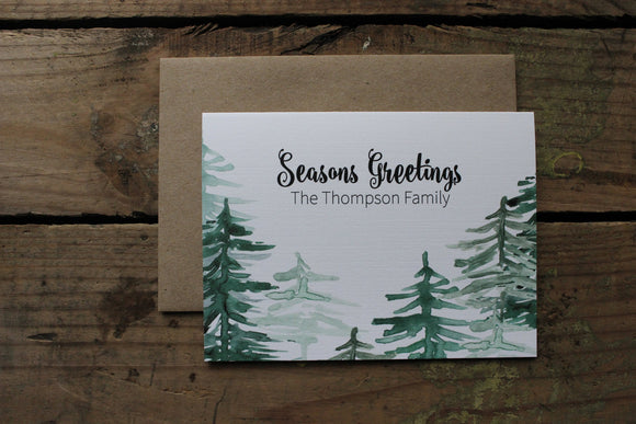 Mountain Seasons Greetings Thank You