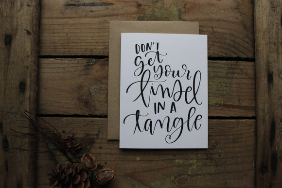 Tinsel in a Tangle Christmas Cards