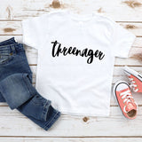 Threenager Funny Toddler Shirt