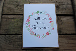 Wreath Wedding Party Card
