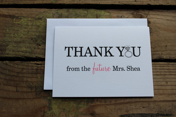 Thank You From The Future Mrs. Set of 10