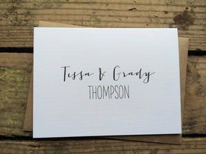 Personalized Wedding Stationery Thank You