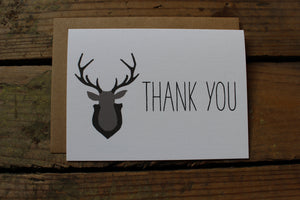 Woodland Antler Thank You Cards
