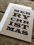 Typography Christmas Card