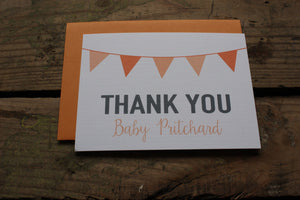 Orange Baby Shower Thank You