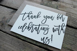 Celebration Thank You Card